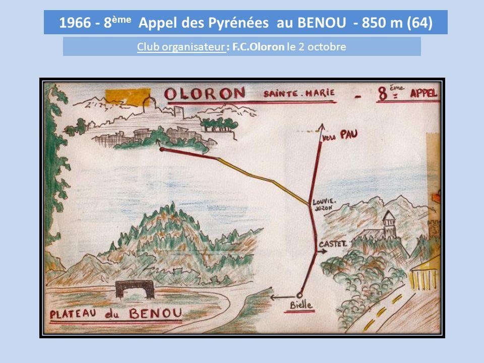 1966 - 8ème Appel des Pyrénées au BENOU - 850 m (64)