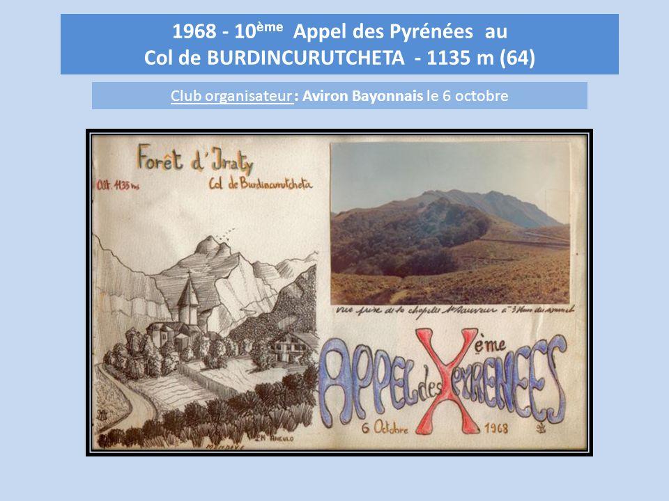 1968 - 10ème Appel des Pyrénées au