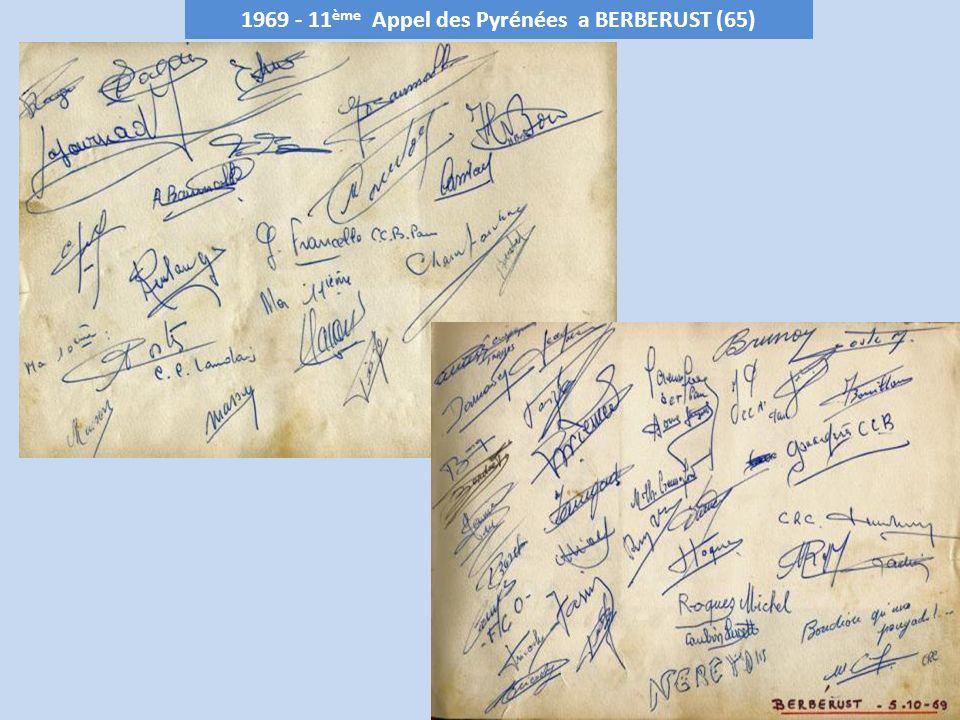 1969 - 11ème Appel des Pyrénées a BERBERUST (65)