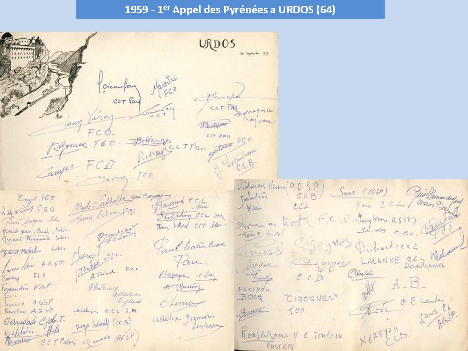 1959 - 1er Appel des Pyrénées a URDOS (64)