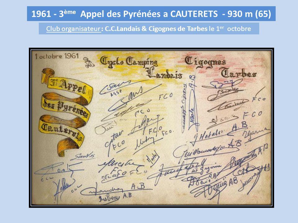 1961 - 3ème Appel des Pyrénées a CAUTERETS - 930 m (65)