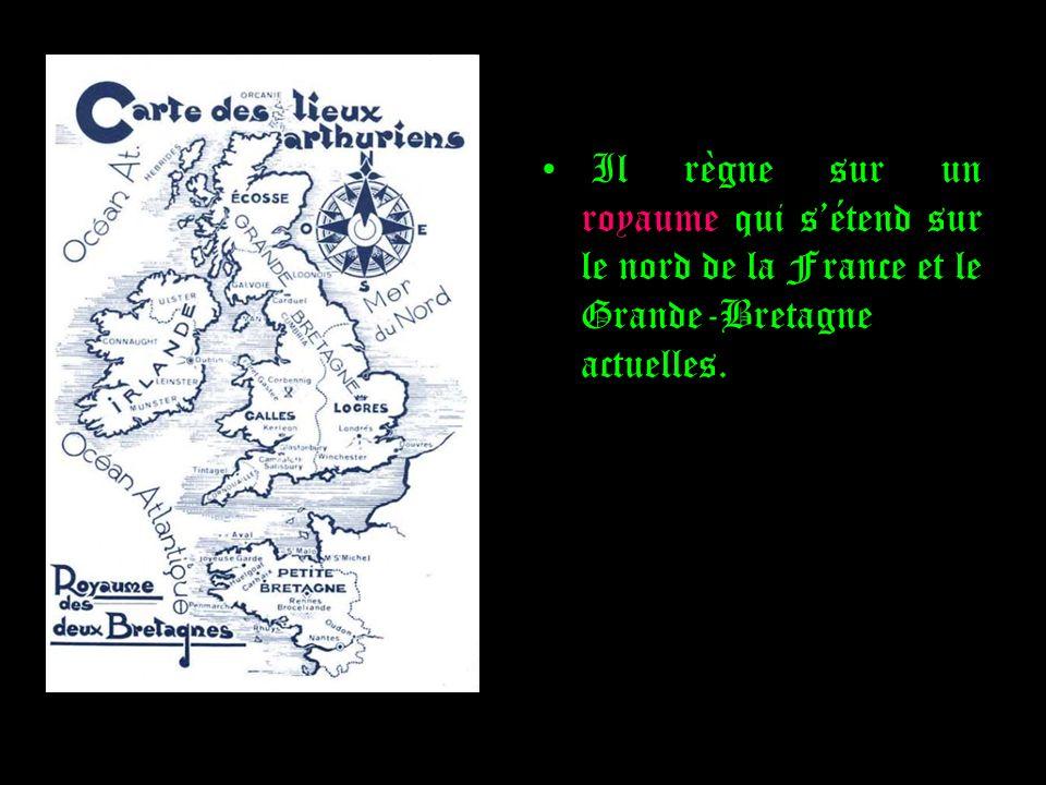 Il règne sur un royaume qui s'étend sur le nord de la France et le Grande-Bretagne actuelles.