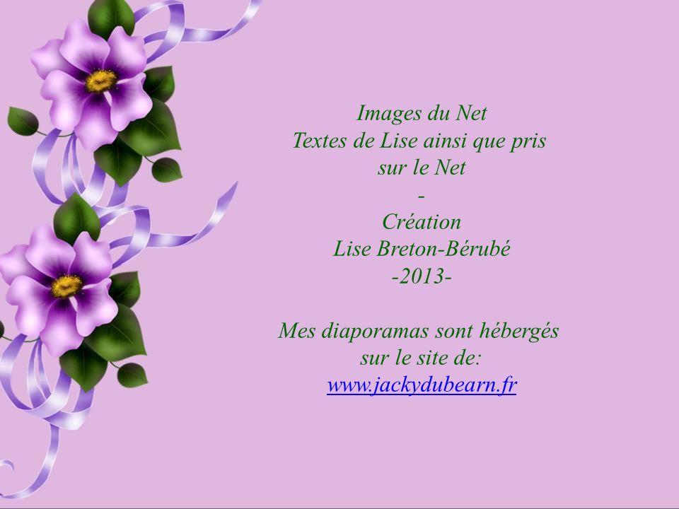 Textes de Lise ainsi que pris sur le Net - Création Lise Breton-Bérubé