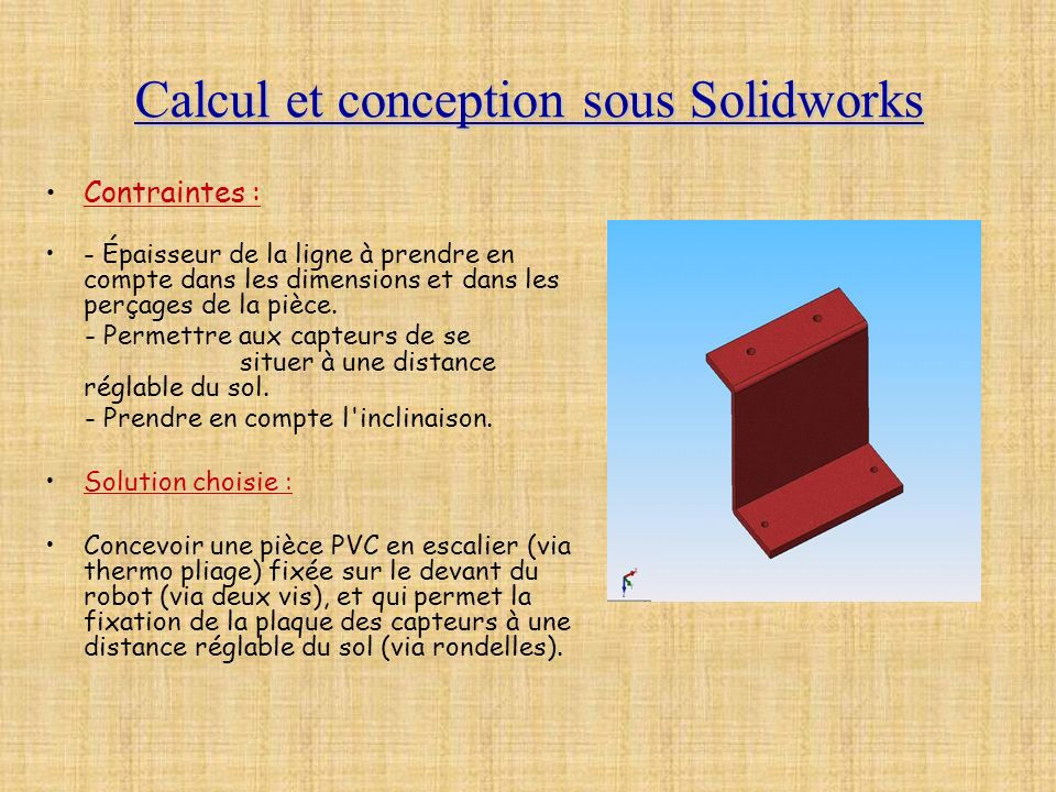 Calcul et conception sous Solidworks