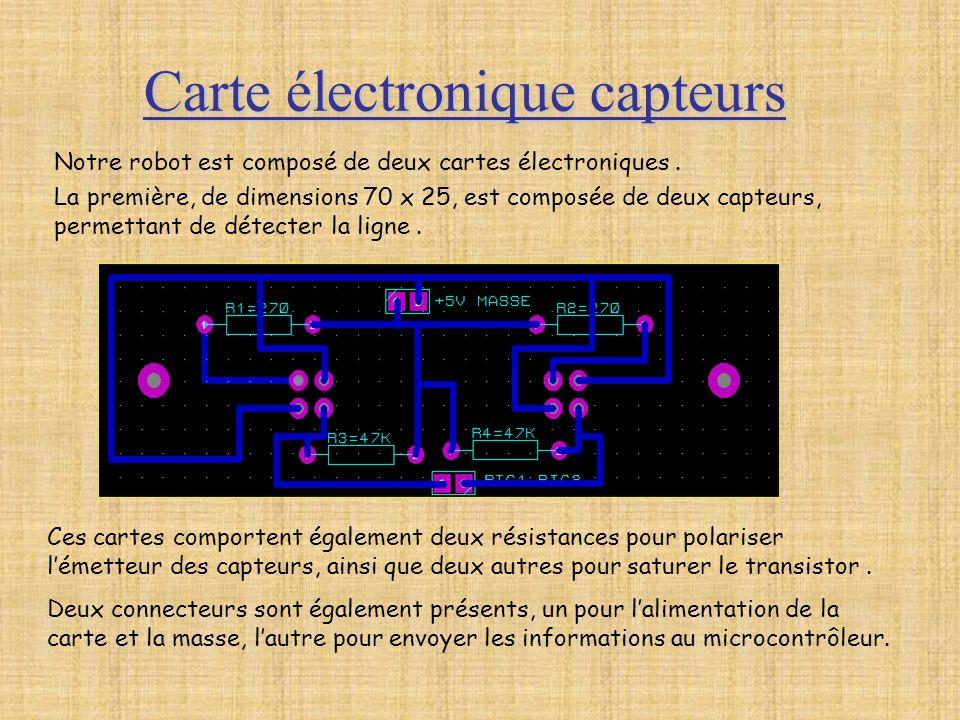 Carte électronique capteurs