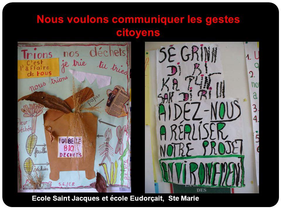 Nous voulons communiquer les gestes citoyens