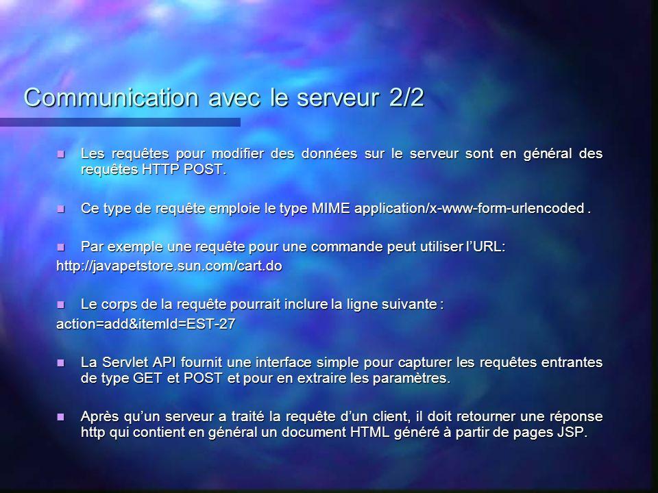 Communication avec le serveur 2/2