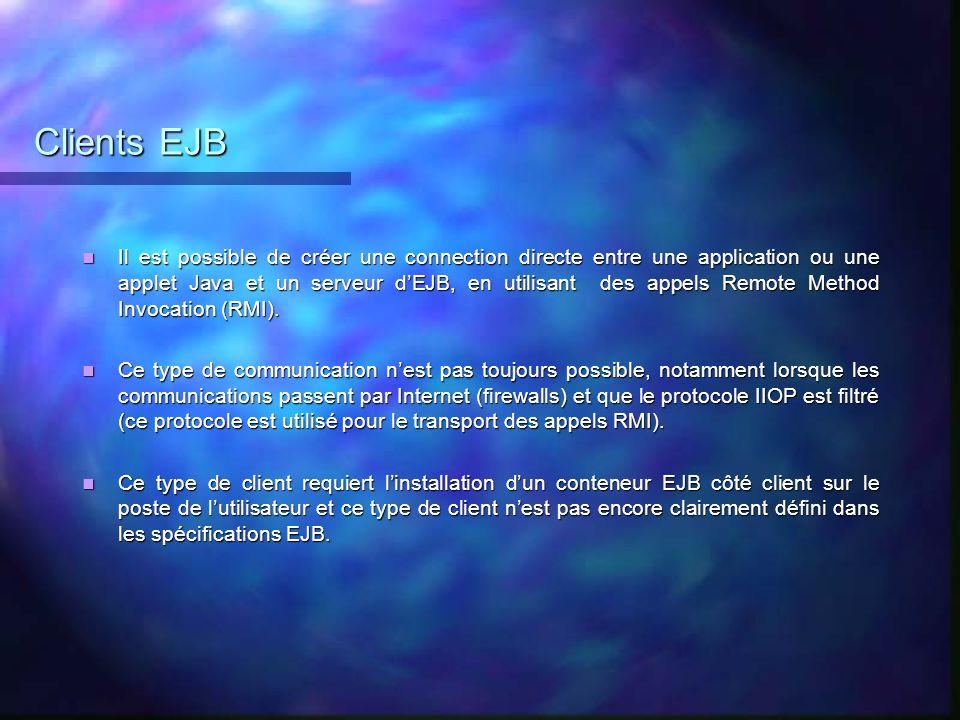 Clients EJB