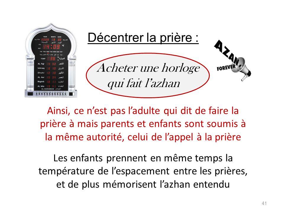 Décentrer la prière : Acheter une horloge qui fait l'azhan