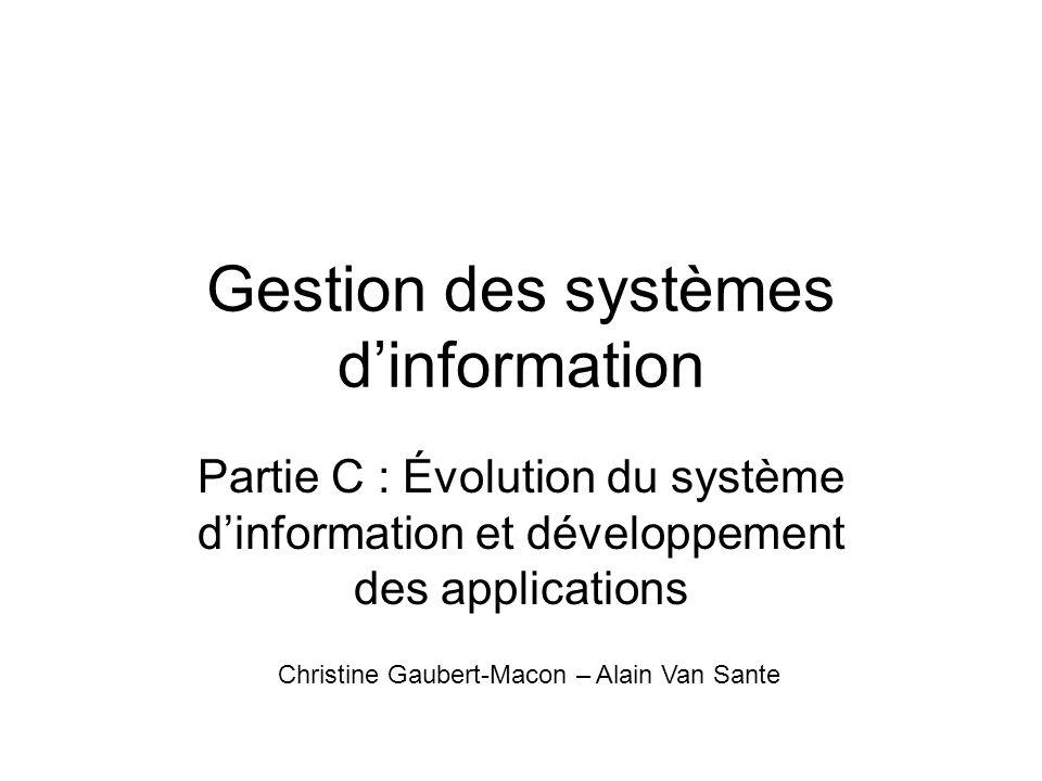 Gestion des systèmes d'information