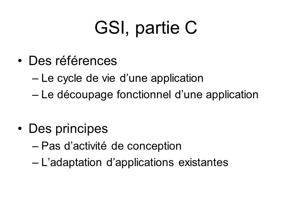 GSI, partie C Des références Des principes