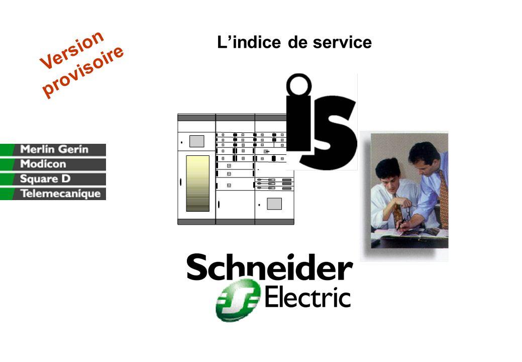 L'indice de service Version provisoire