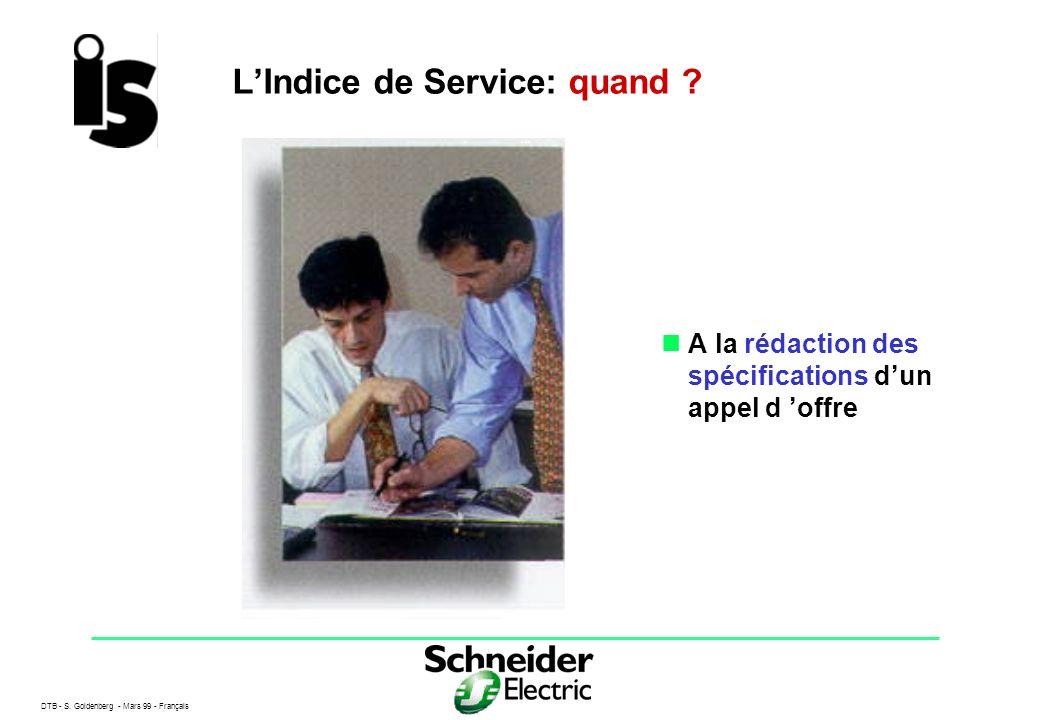 L'Indice de Service: quand
