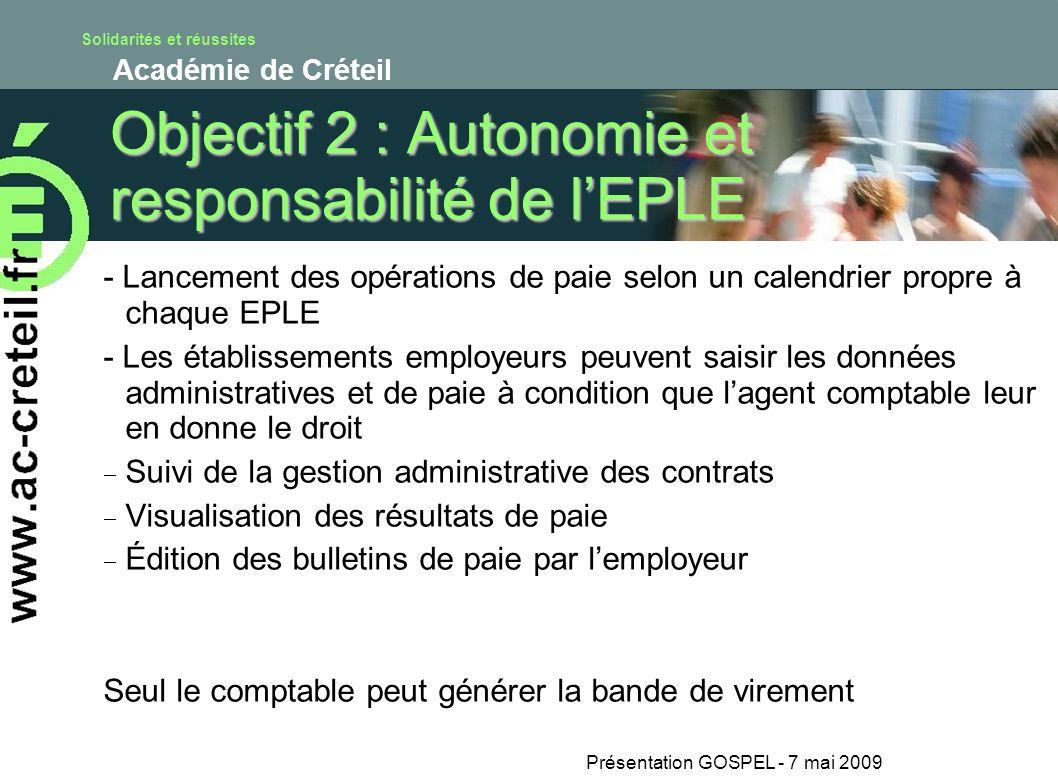 Objectif 2 : Autonomie et responsabilité de l'EPLE