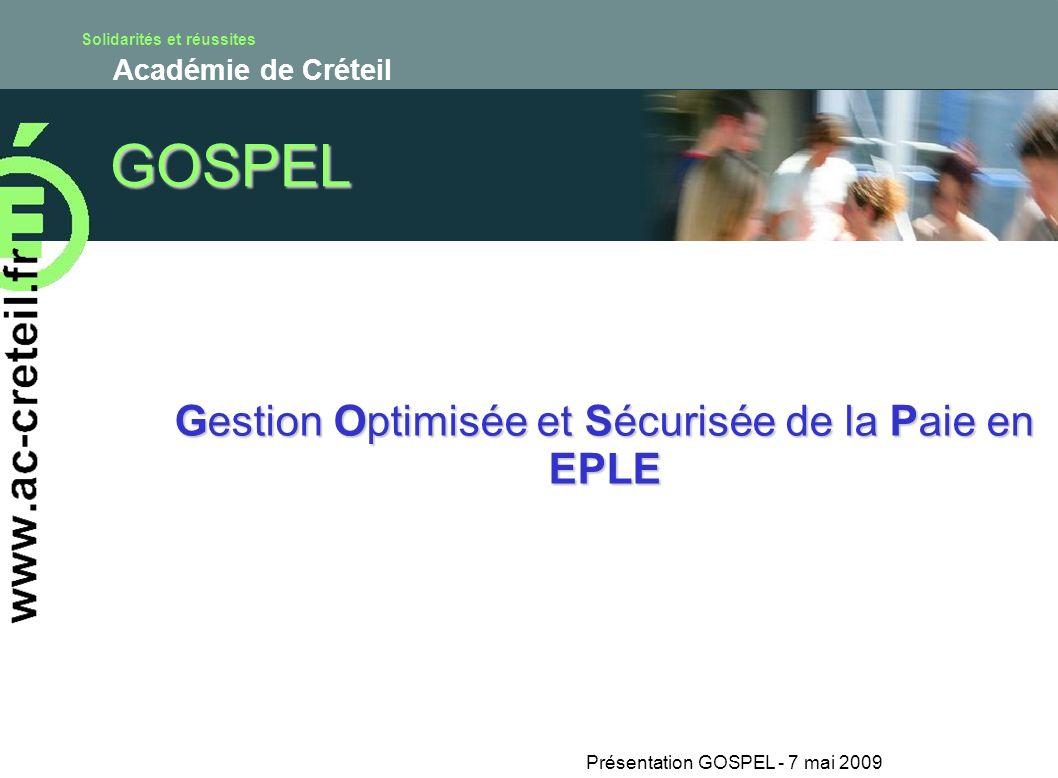 GOSPEL Gestion Optimisée et Sécurisée de la Paie en EPLE
