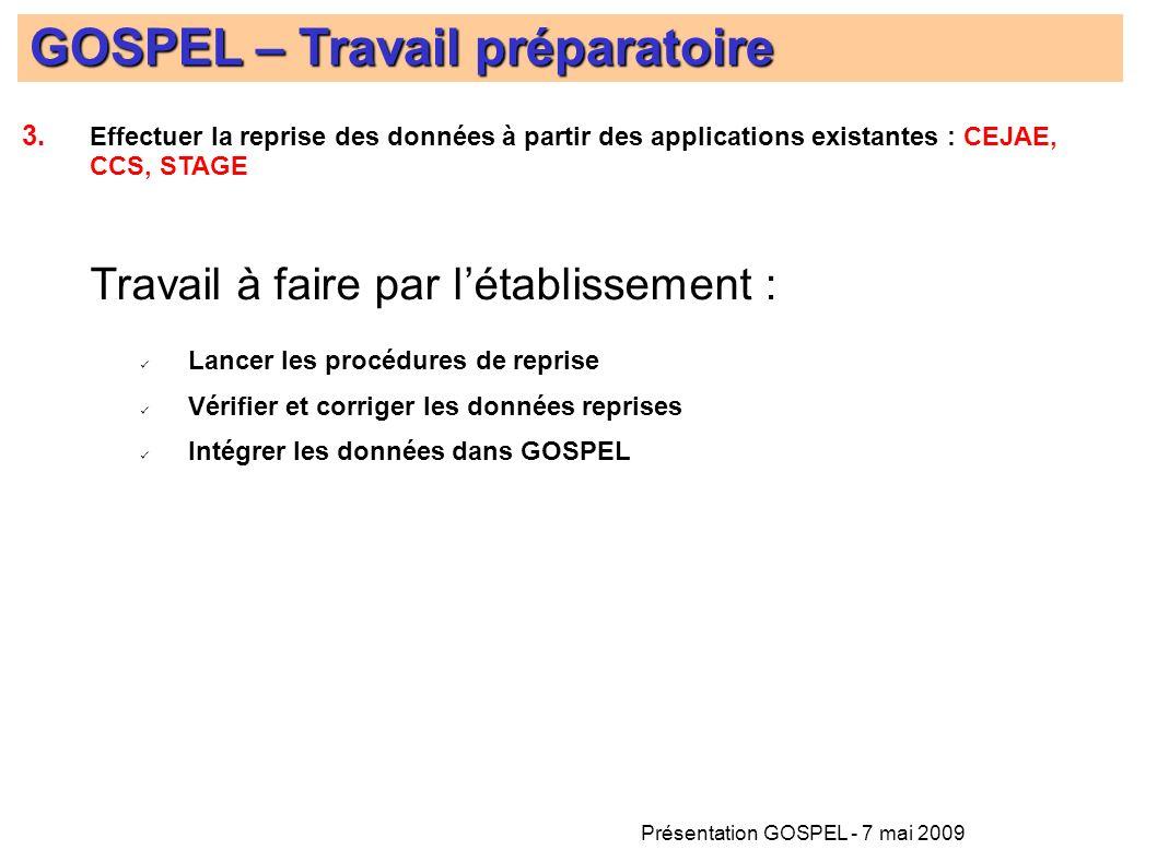 Présentation GOSPEL - 7 mai 2009