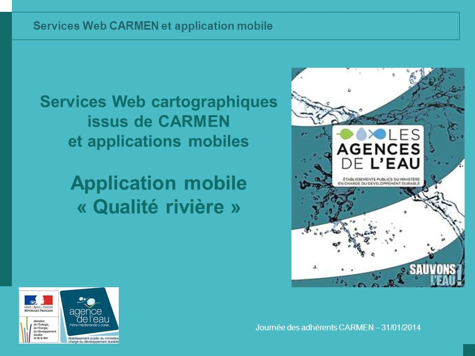 Application mobile « Qualité rivière »