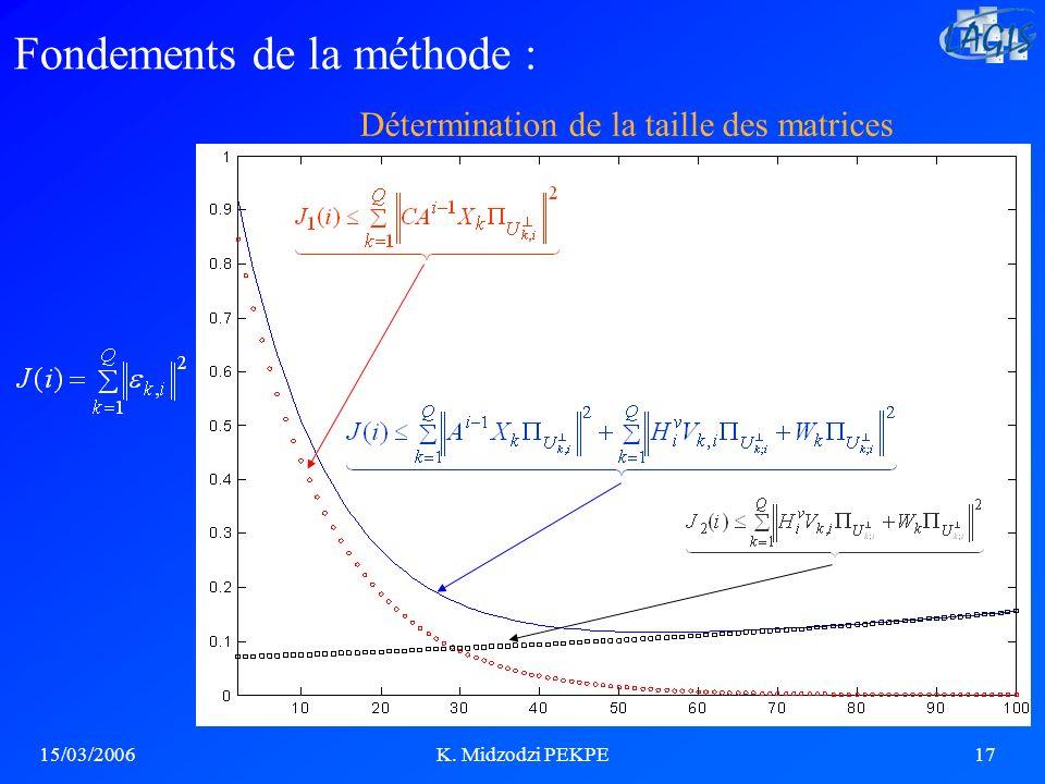 Détermination de la taille des matrices