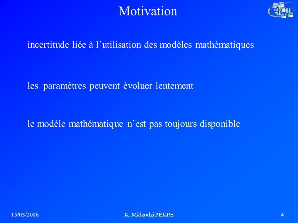 Motivation incertitude liée à l'utilisation des modèles mathématiques
