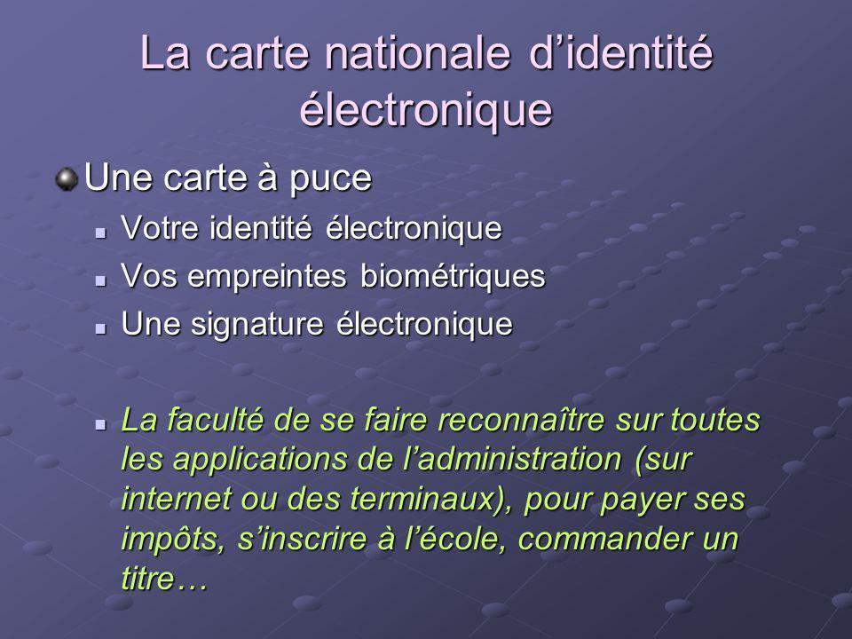 La carte nationale d'identité électronique