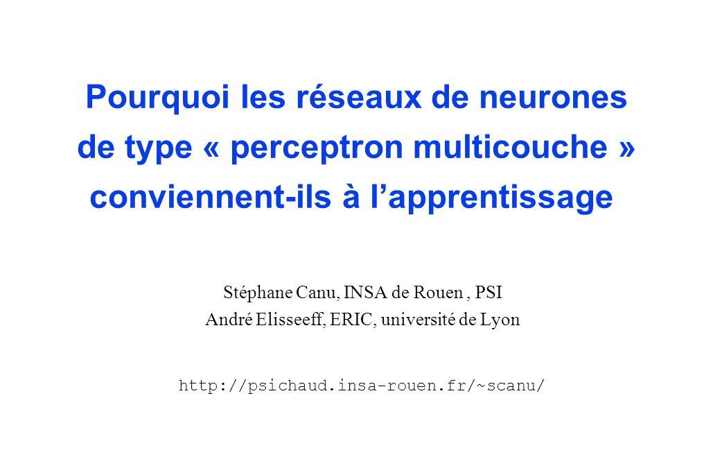 Pourquoi les réseaux de neurones de type « perceptron multicouche » conviennent-ils à l'apprentissage