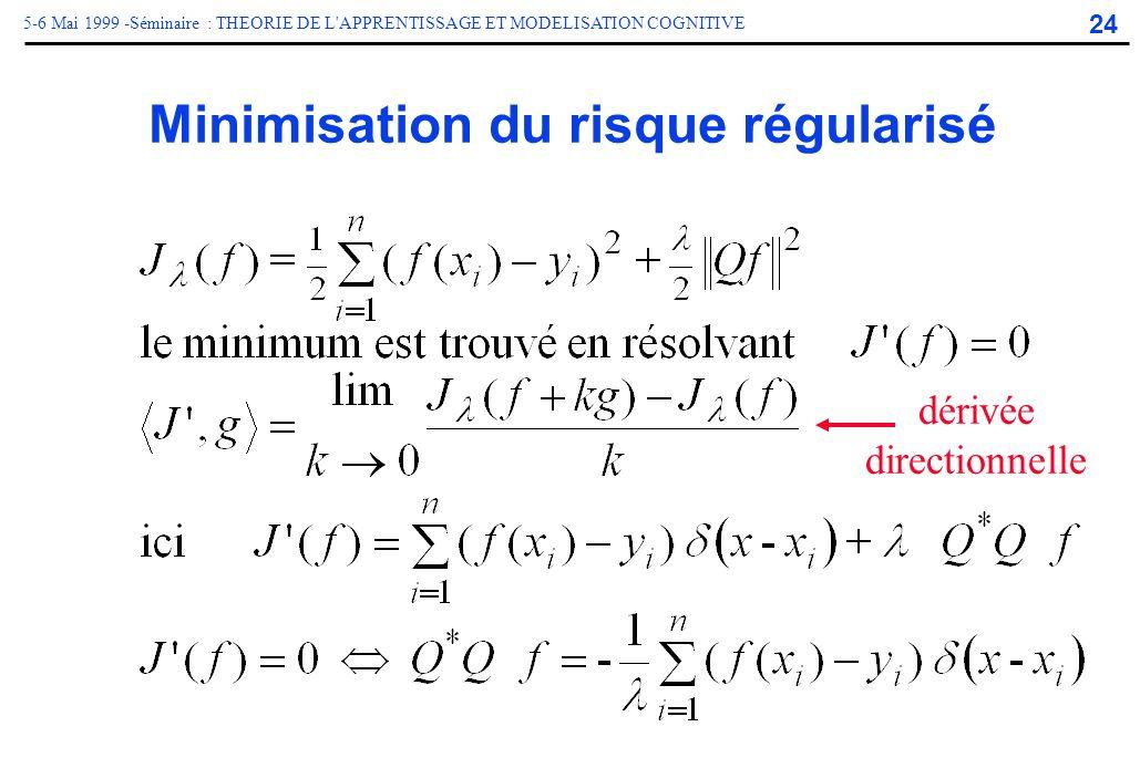 Minimisation du risque régularisé