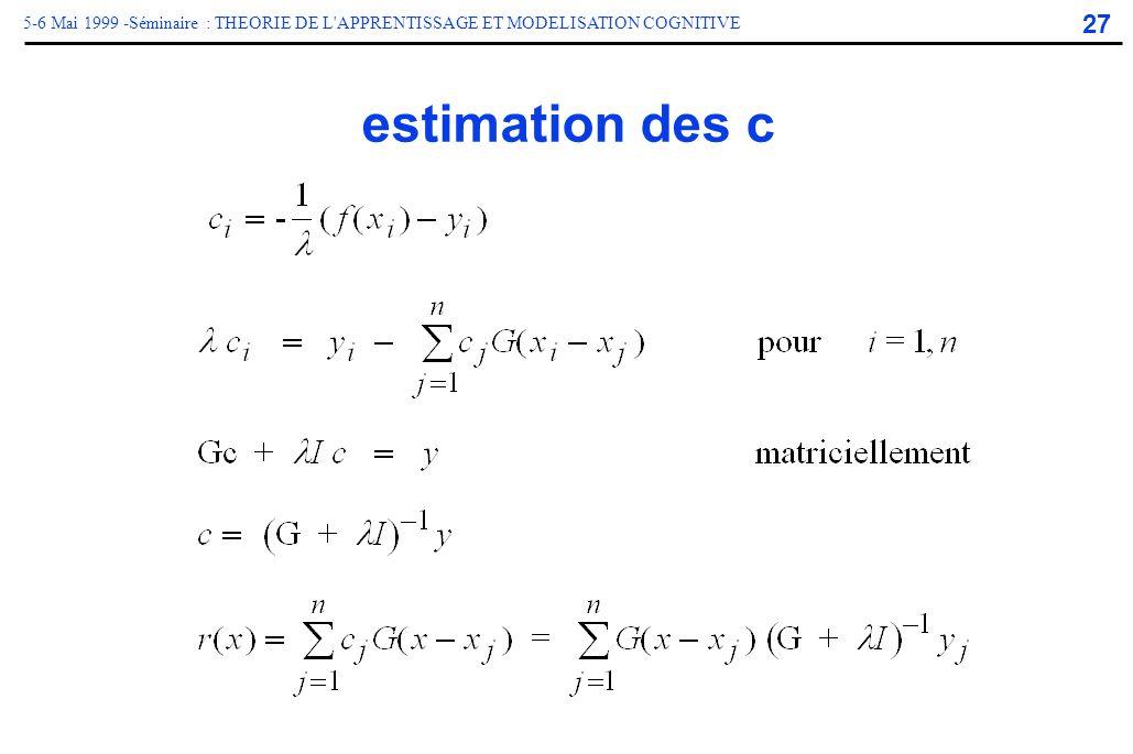 estimation des c
