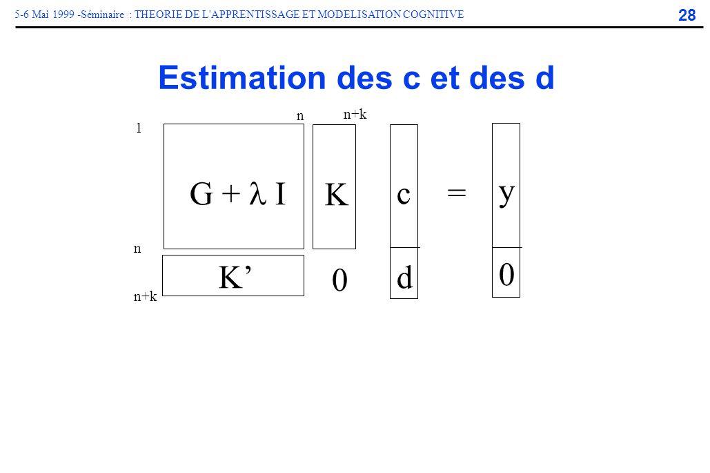 Estimation des c et des d