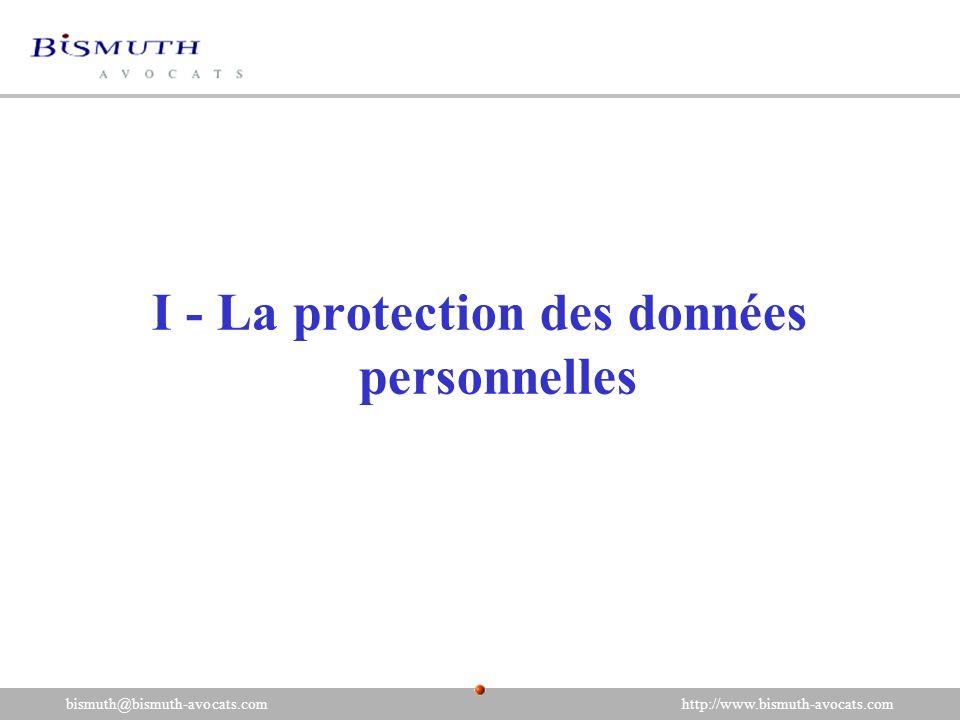 I - La protection des données personnelles