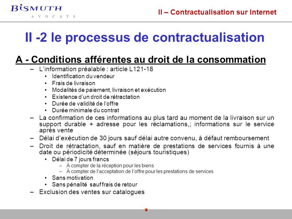 II -2 le processus de contractualisation