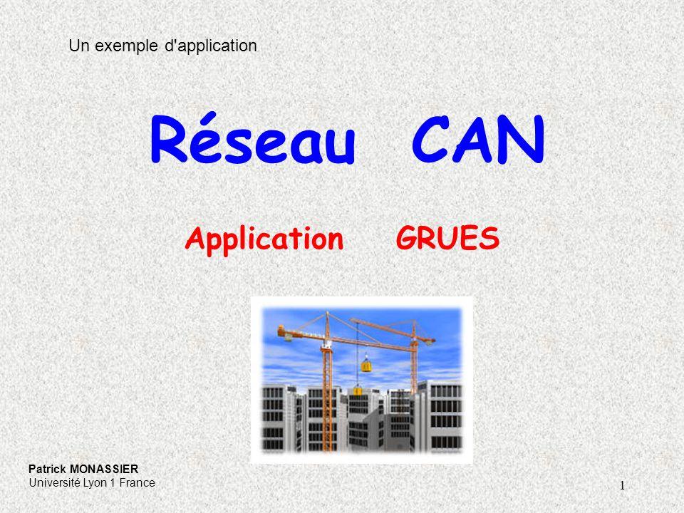 Réseau CAN Application GRUES Un exemple d application