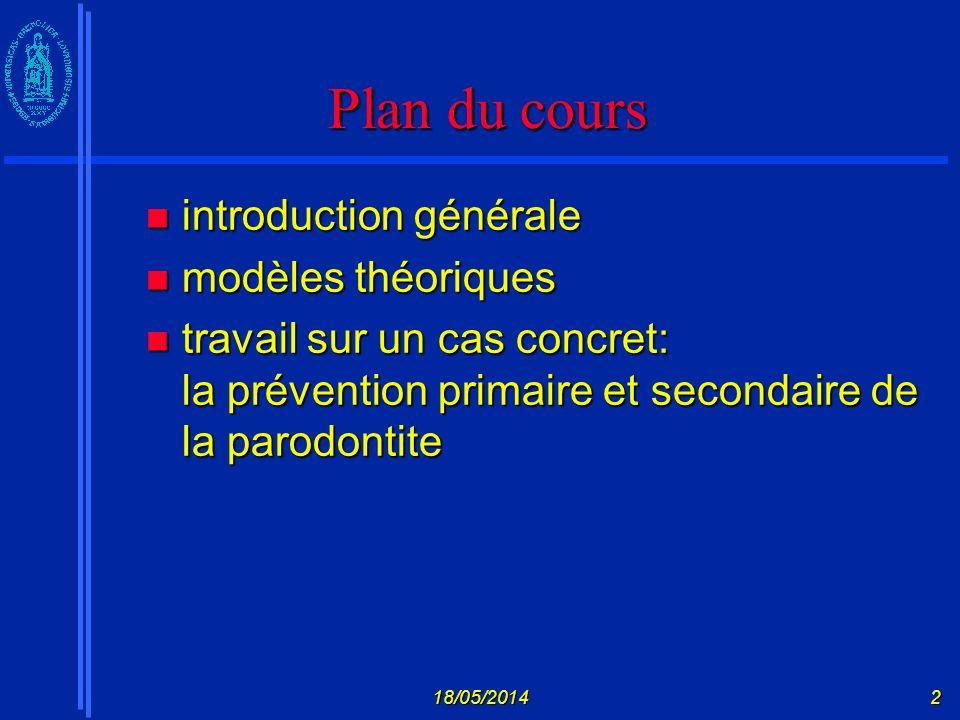 Plan du cours introduction générale modèles théoriques