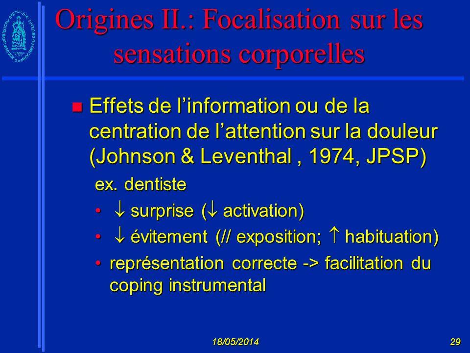 Origines II.: Focalisation sur les sensations corporelles