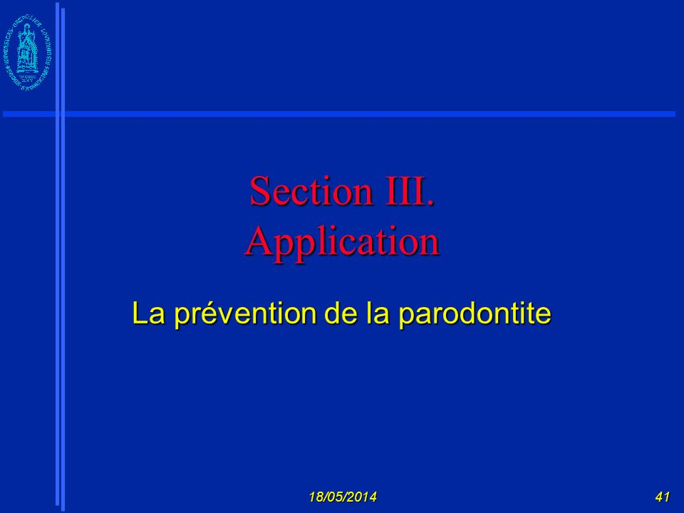 Section III. Application