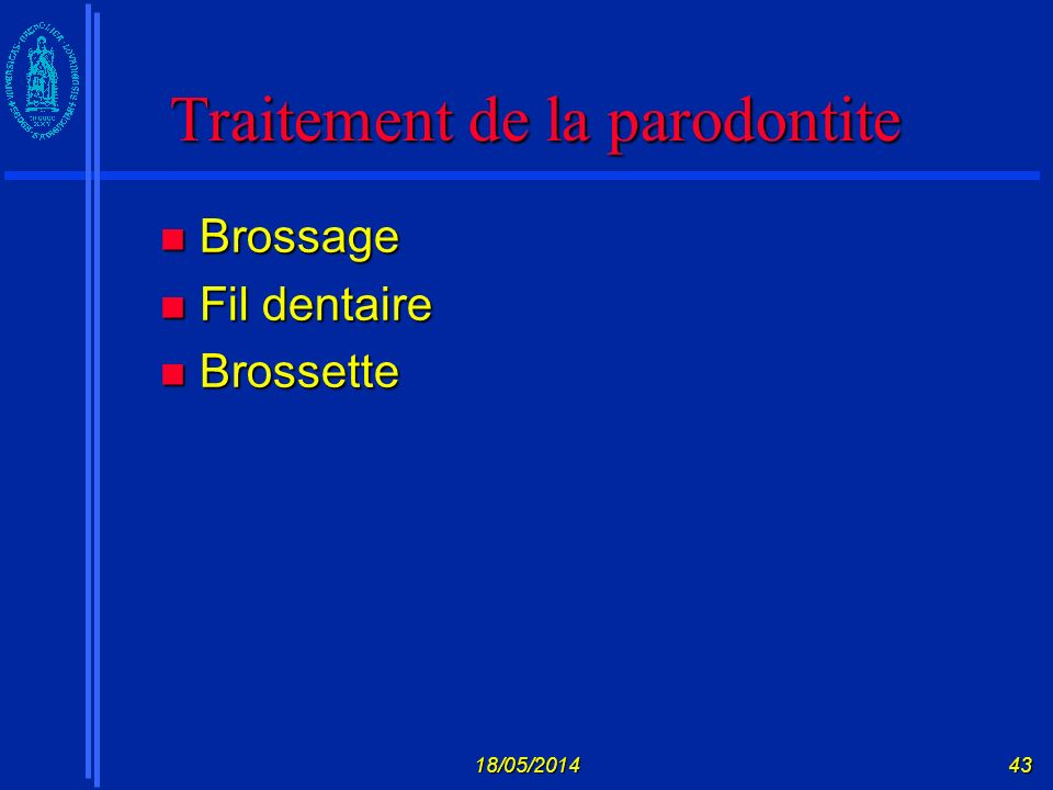 Traitement de la parodontite