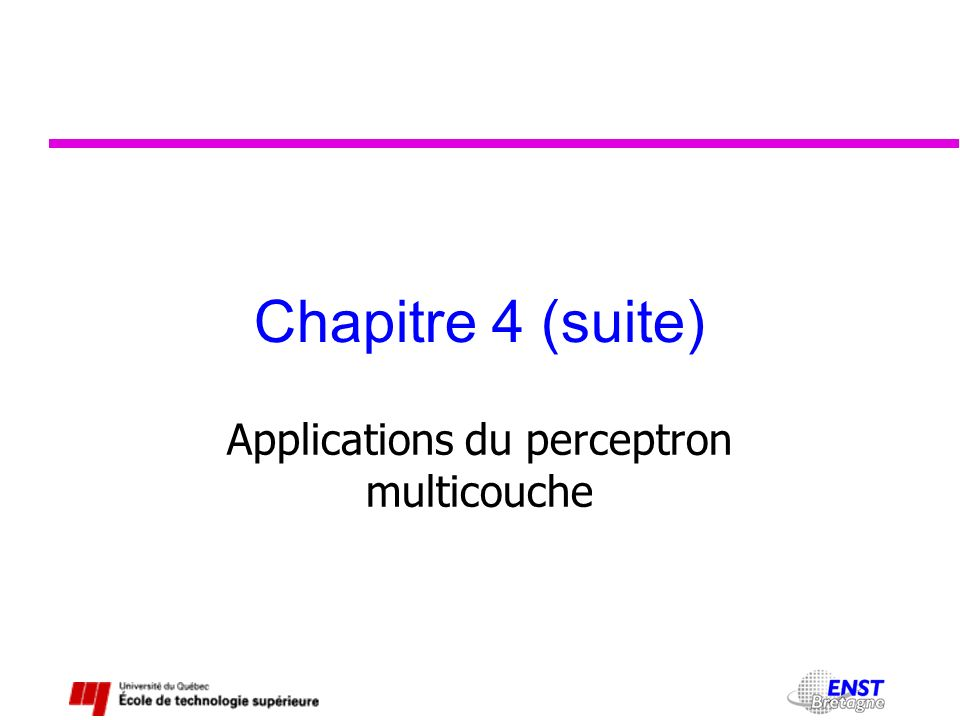Applications du perceptron multicouche