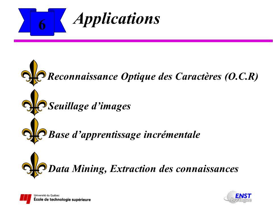 Applications 6 Reconnaissance Optique des Caractères (O.C.R)