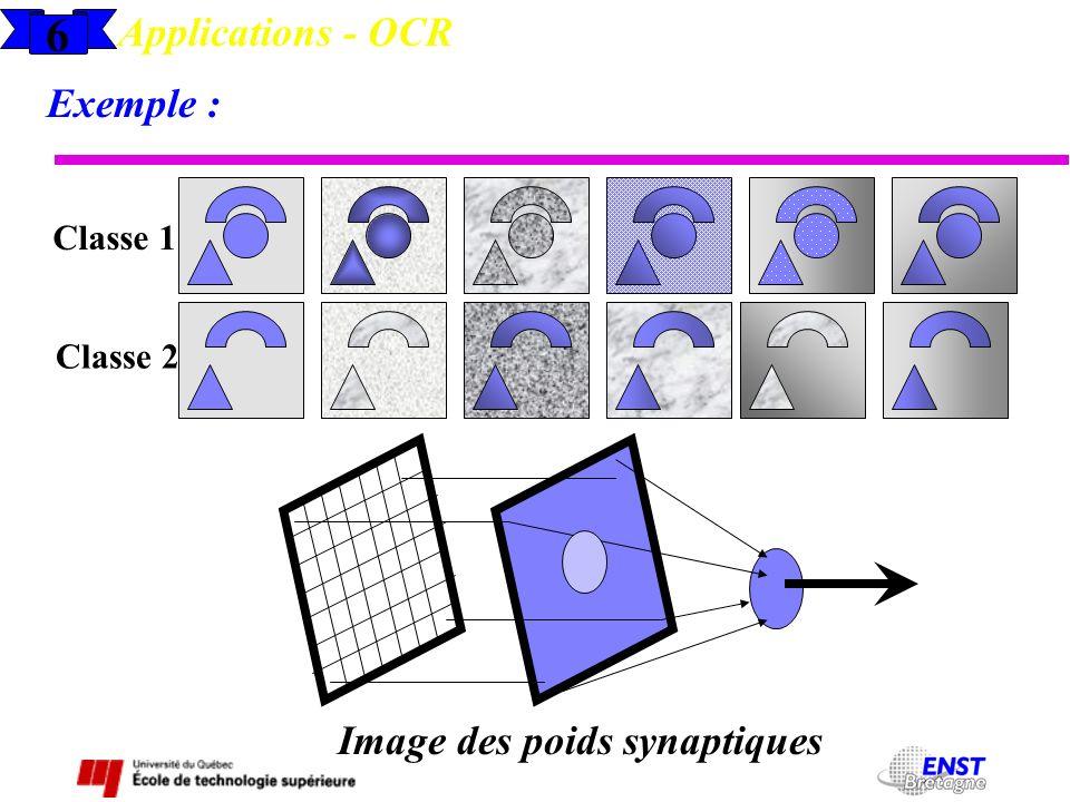 Image des poids synaptiques