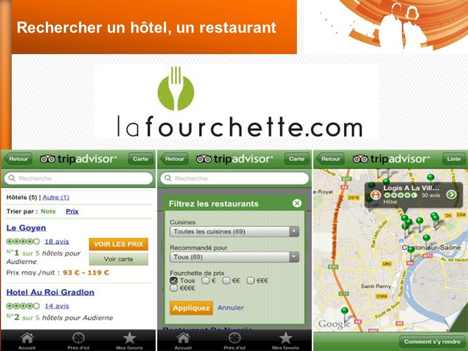 Rechercher un hôtel, un restaurant