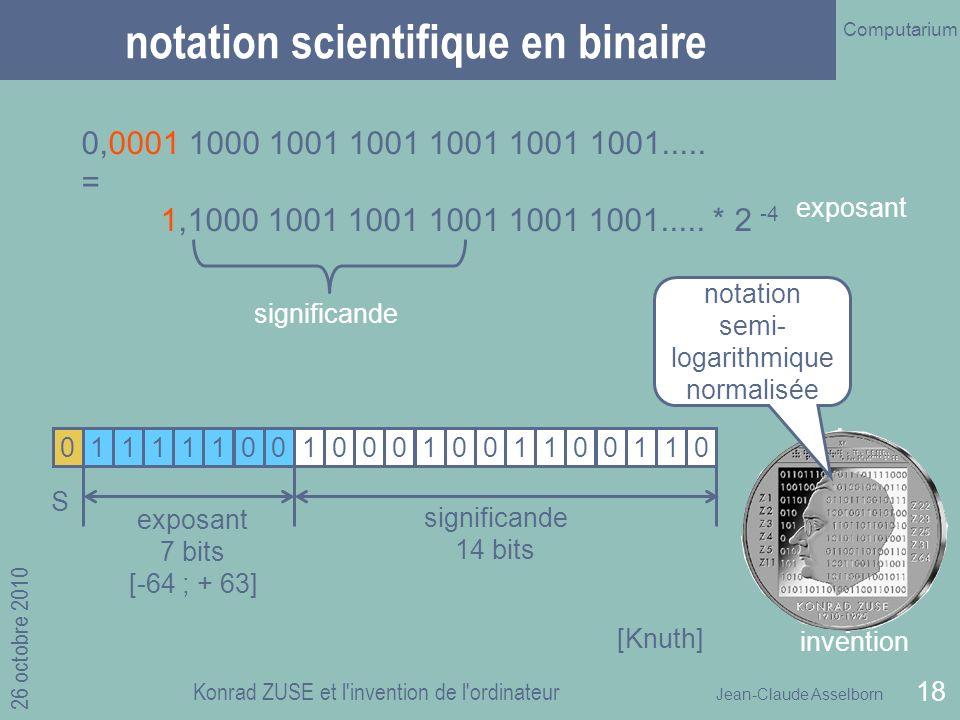 notation scientifique en binaire