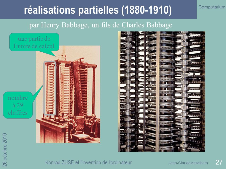 réalisations partielles (1880-1910)