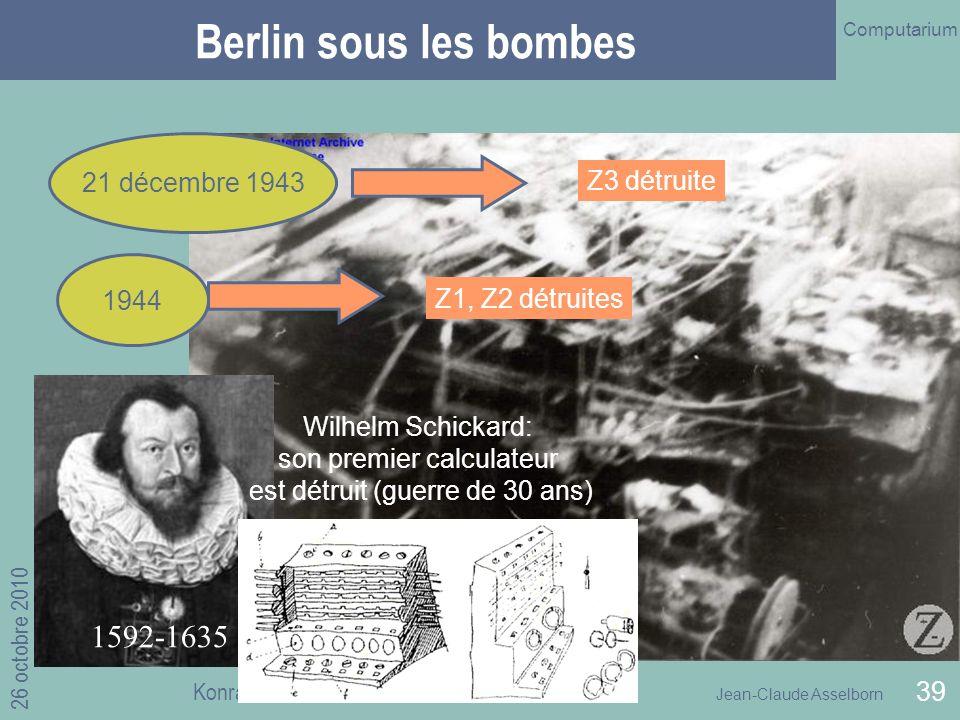 Berlin sous les bombes 1592-1635 21 décembre 1943 Z3 détruite 1944