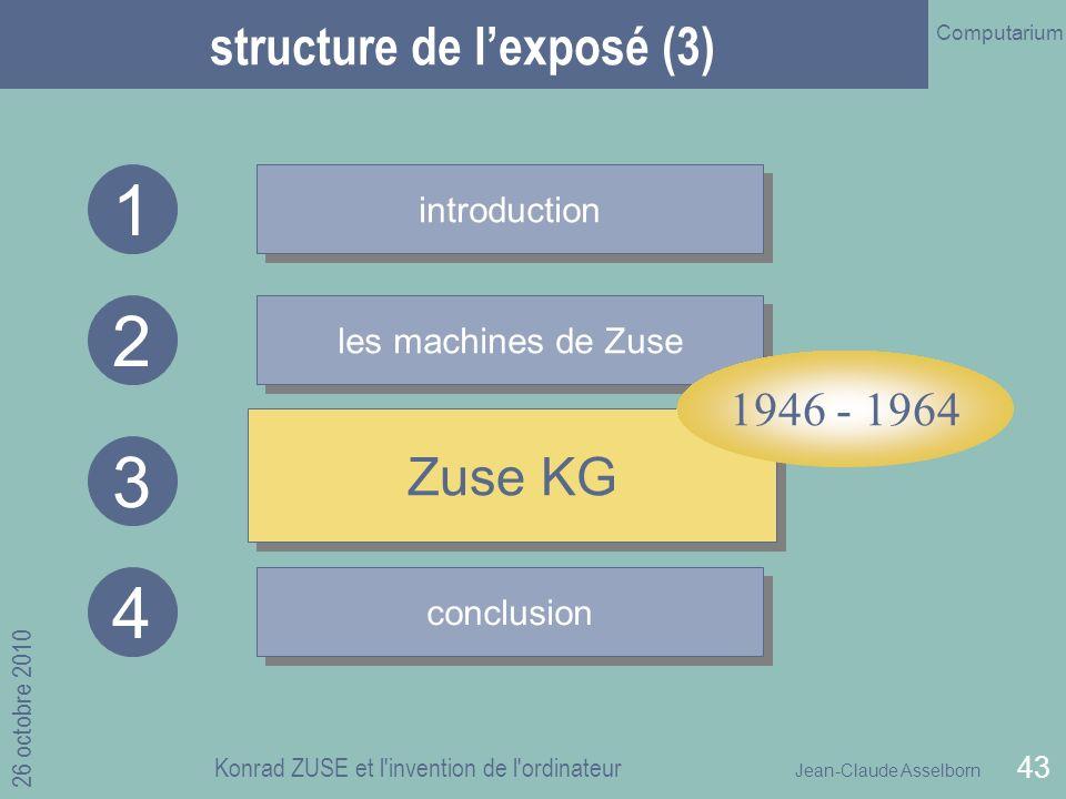 structure de l'exposé (3)