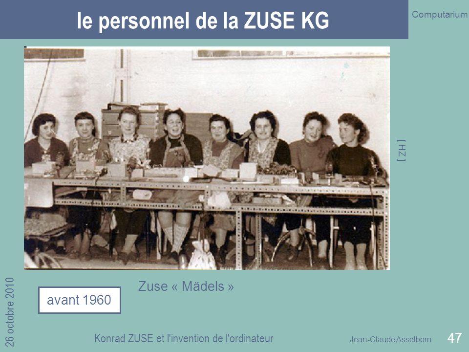 le personnel de la ZUSE KG