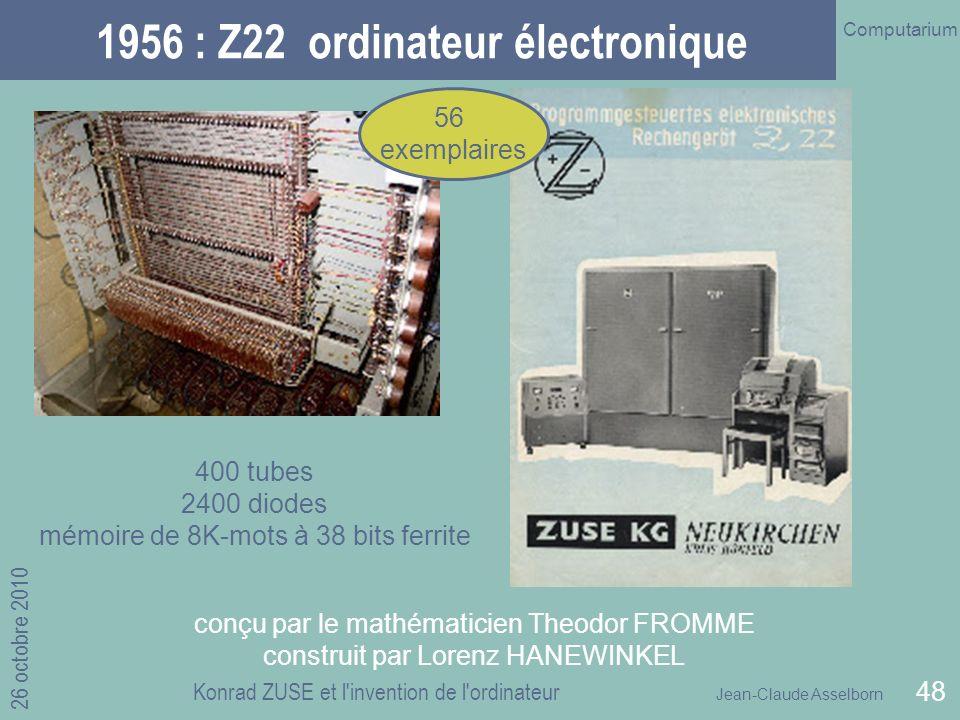 1956 : Z22 ordinateur électronique