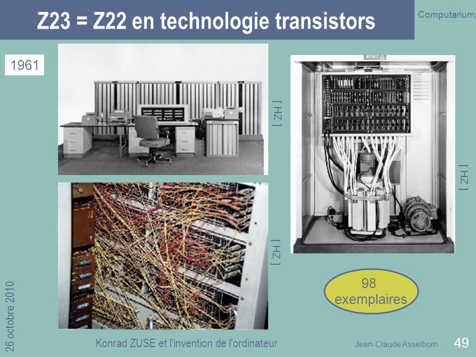 Z23 = Z22 en technologie transistors