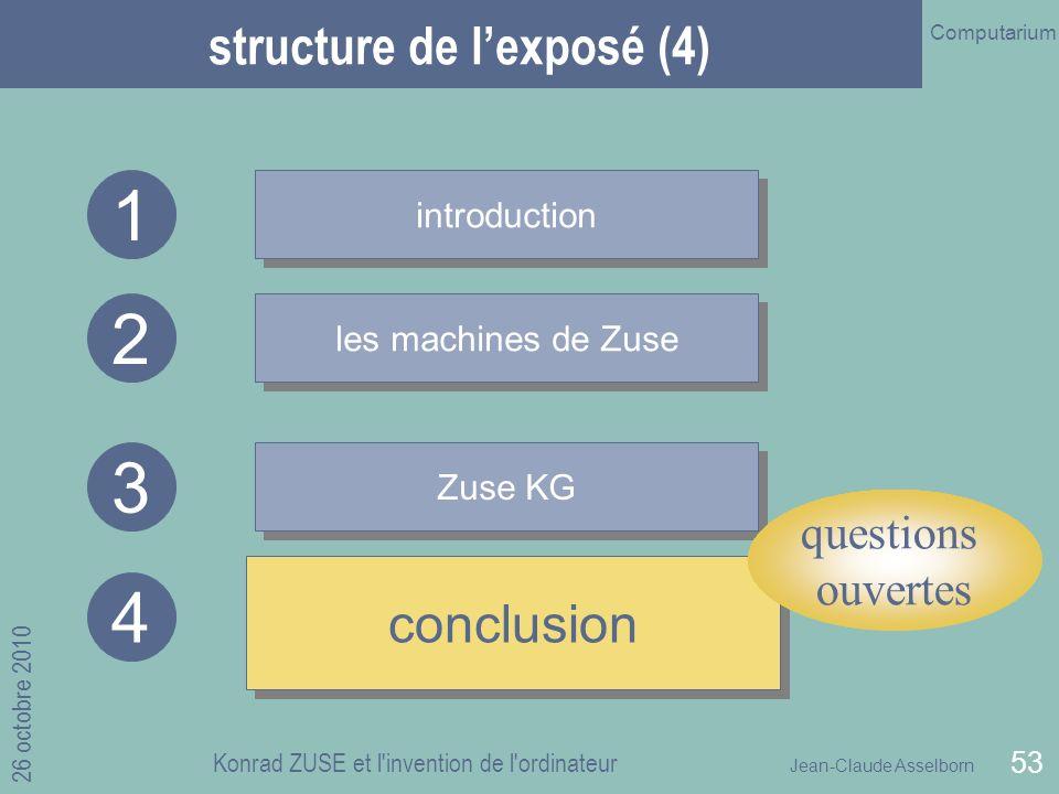 structure de l'exposé (4)