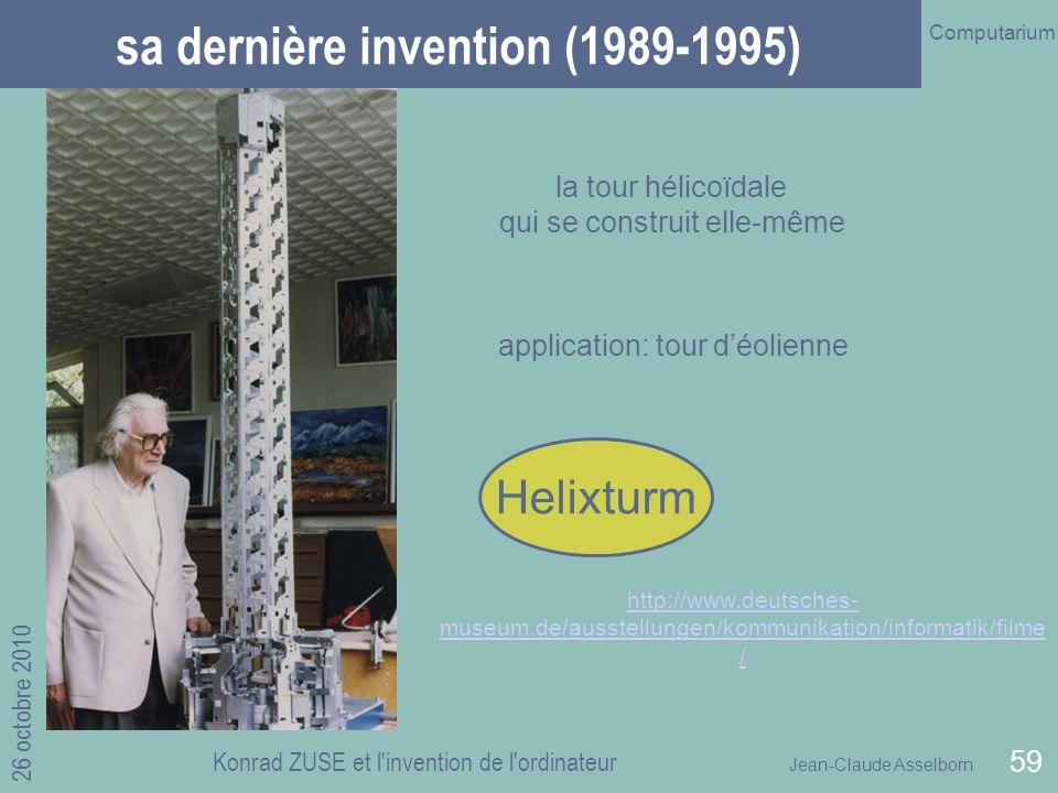 sa dernière invention (1989-1995)