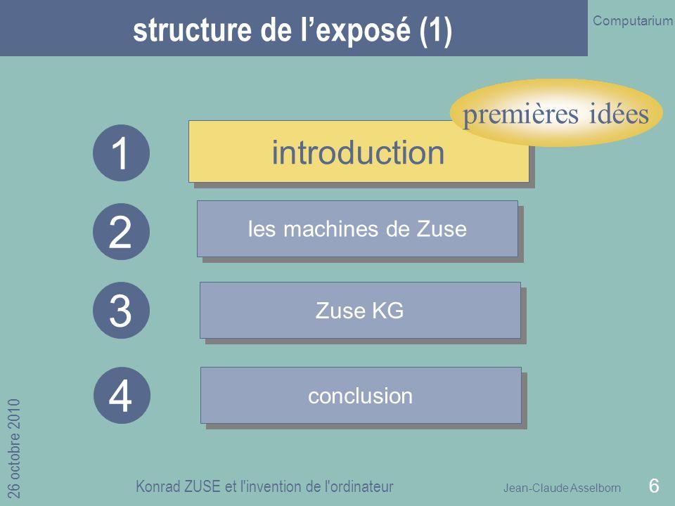 structure de l'exposé (1)