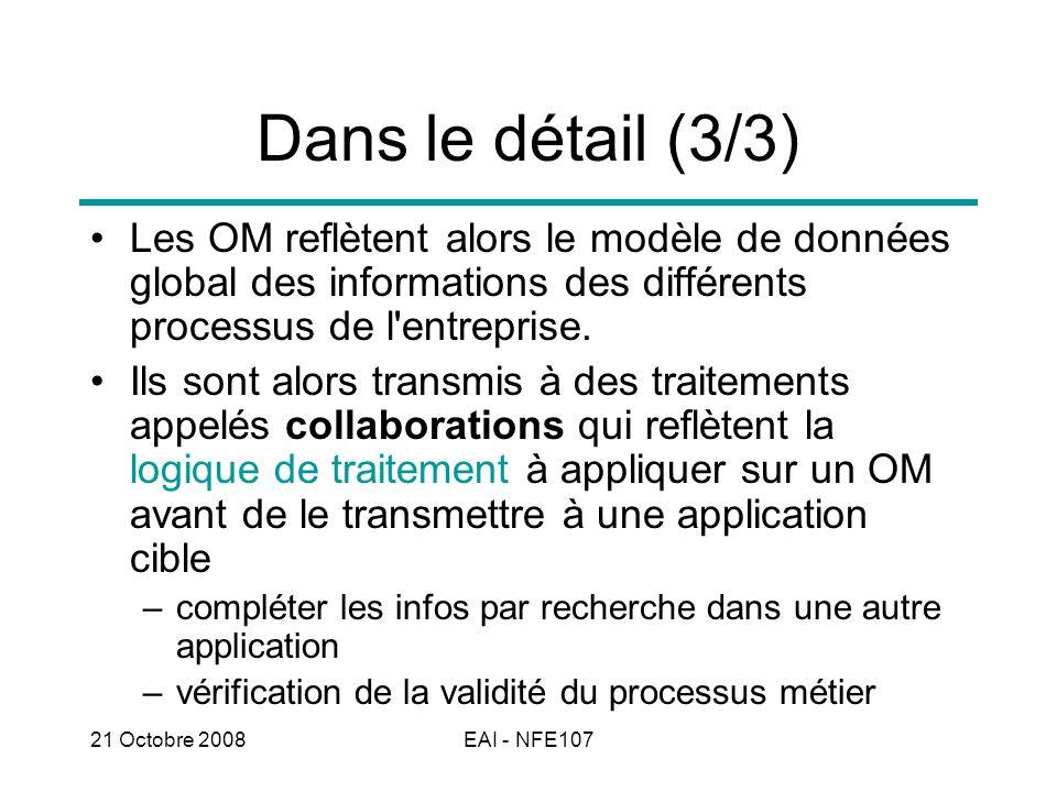 Dans le détail (3/3) Les OM reflètent alors le modèle de données global des informations des différents processus de l entreprise.